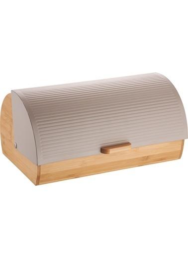 Bayev Ekmek Kutusu - Bej Çizgili Bej